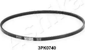 Ashika 112-3PK740 - Поликлиновые ремни (продолные рёбра) avtodrive.by