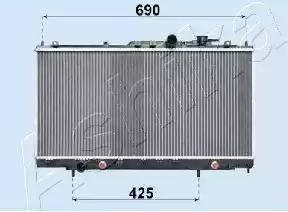 Ashika RDA183018 - Радиатор, охлаждение двигателя avtodrive.by