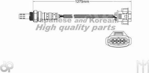 Ashuki 9200-49462 - Лямбда-зонд, датчик кислорода avtodrive.by