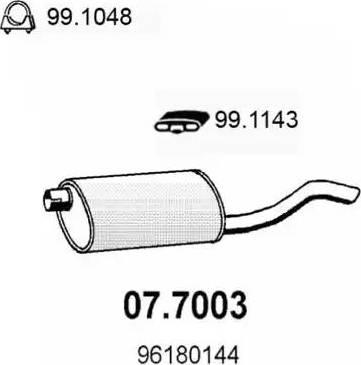 ASSO 077003 - Глушитель выхлопных газов конечный avtodrive.by