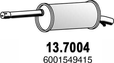 ASSO 137004 - Глушитель выхлопных газов конечный avtodrive.by