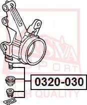 ASVA 0320-030 - Шаровая опора, несущий / направляющий шарнир avtodrive.by