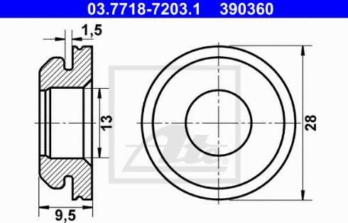 ATE 03771872031 - Прокладка, вакуумный соединитель BKV avtodrive.by