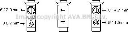 Ava Quality Cooling BW1360 - Расширительный клапан, кондиционер avtodrive.by