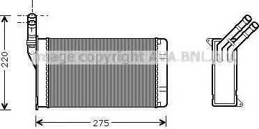 Ava Quality Cooling CN6082 - Теплообменник, отопление салона avtodrive.by