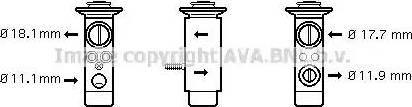 Ava Quality Cooling MS1124 - Расширительный клапан, кондиционер avtodrive.by