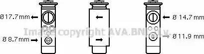 Ava Quality Cooling OL1412 - Расширительный клапан, кондиционер avtodrive.by