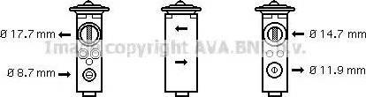 Ava Quality Cooling OL1375 - Расширительный клапан, кондиционер avtodrive.by