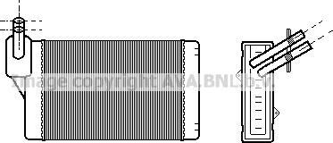 Ava Quality Cooling VNA6060 - Теплообменник, отопление салона avtodrive.by