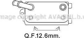 Ava Quality Cooling VO3170 - Масляный радиатор, автоматическая коробка передач avtodrive.by
