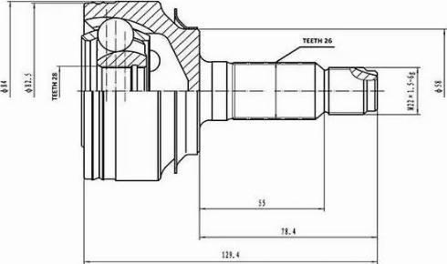 Aywiparts AW1510823 - Шарнирный комплект, ШРУС, приводной вал avtodrive.by