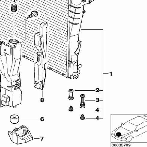 BMW 17111437361 - Болт воздушного клапана / вентиль, радиатор avtodrive.by