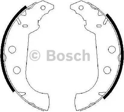 BOSCH 0 986 487 243 - Комплект тормозных башмаков, барабанные avtodrive.by