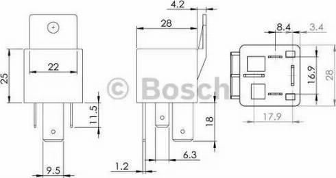 BOSCH 0986AH0080 - Блок управления, реле, система накаливания avtodrive.by