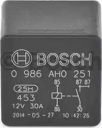 BOSCH 0 986 AH0 251 - Реле, вентилятор радиатора avtodrive.by