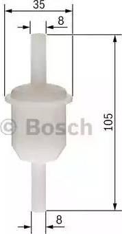 BOSCH 0450904058 - Топливный фильтр avtodrive.by