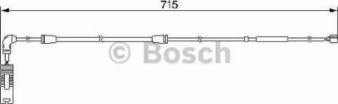 BOSCH 1987474946 - Сигнализатор, износ тормозных колодок avtodrive.by