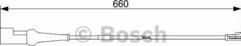 BOSCH 1987473575 - Сигнализатор, износ тормозных колодок avtodrive.by