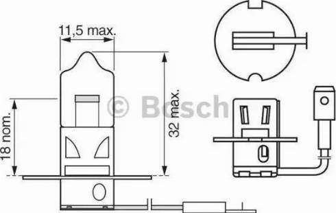 BOSCH 1 987 302 031 - Лампа накаливания, противотуманная фара avtodrive.by