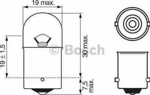 BOSCH 1987302284 - Лампа накаливания, стояночные огни / габаритные фонари avtodrive.by