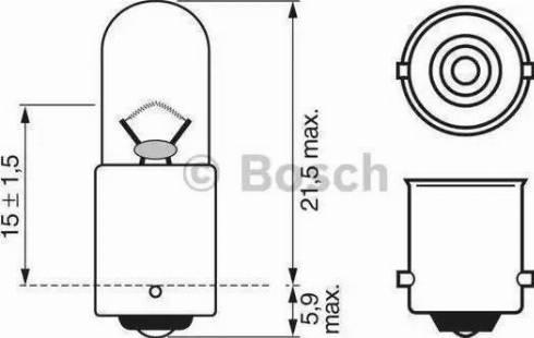 BOSCH 1 987 302 207 - Лампа накаливания, стояночные огни / габаритные фонари avtodrive.by