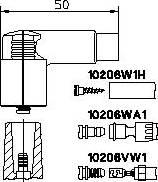 Bremi 10206VW1 - Вилка, катушка зажигания avtodrive.by