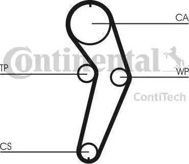 Contitech CT988K2 - Комплект ремня ГРМ avtodrive.by