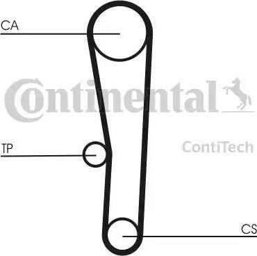 Contitech CT1062K1 - Комплект ремня ГРМ avtodrive.by