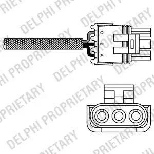 Delphi ES10990-12B1 - Лямбда-зонд, датчик кислорода avtodrive.by
