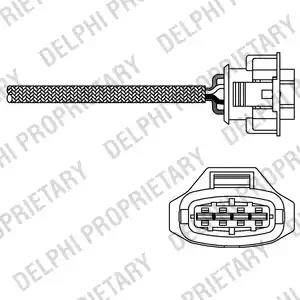 Delphi ES20281-12B1 - Лямбда-зонд, датчик кислорода avtodrive.by
