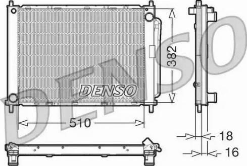 Denso DRM23100 - Модуль охлаждения avtodrive.by