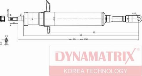 Dynamatrix DSA341842 - Амортизатор avtodrive.by