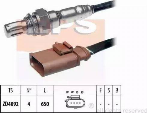 EPS 1.998.057 - Лямбда-зонд, датчик кислорода avtodrive.by