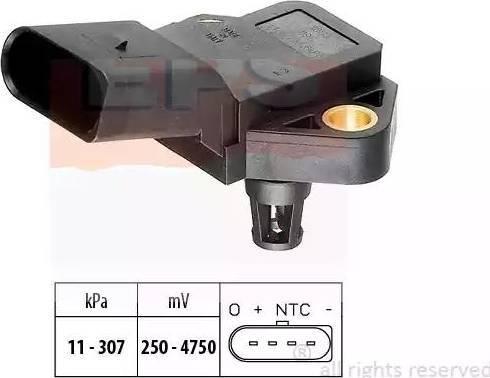 EPS 1.993.075 - Датчик, давление выхлопных газов avtodrive.by