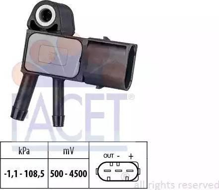 FACET 10.3269 - Датчик, давление выхлопных газов avtodrive.by