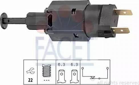 FACET 7.1050 - Выключатель фонаря сигнала торможения avtodrive.by