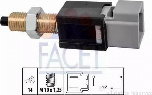 FACET 7.1304 - Выключатель, привод сцепления (Tempomat) avtodrive.by