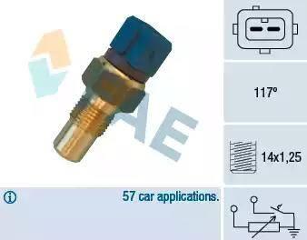 FAE 34440 - Датчик, температура головки цилиндров avtodrive.by