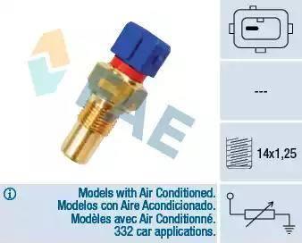 FAE 32290 - Датчик, температура головки цилиндров avtodrive.by