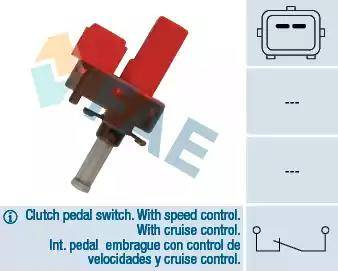 FAE 24845 - Выключатель, привод сцепления (Tempomat) avtodrive.by