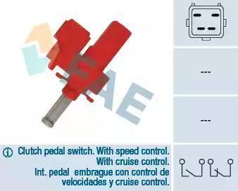 FAE 24835 - Выключатель, привод сцепления (Tempomat) avtodrive.by