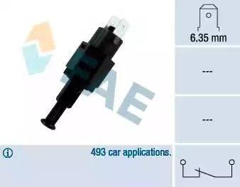 FAE 24310 - Выключатель фонаря сигнала торможения avtodrive.by