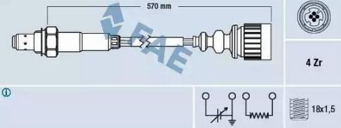 FAE 77173 - Лямбда-зонд, датчик кислорода avtodrive.by