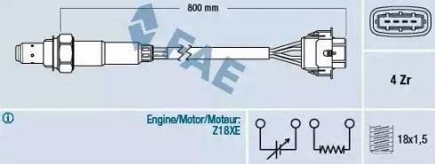 FAE 77247 - Лямбда-зонд, датчик кислорода avtodrive.by