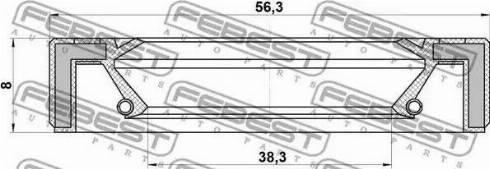 Febest 95GAY-40560808X - Уплотнительное кольцо вала, приводной вал avtodrive.by