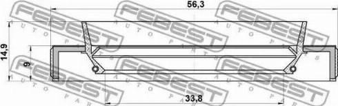 Febest 95HBY-35560915C - Уплотнительное кольцо вала, приводной вал avtodrive.by