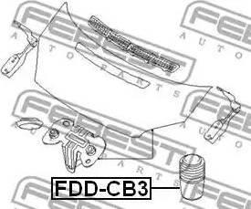 Febest FDDCB3 - Буфер, капот avtodrive.by