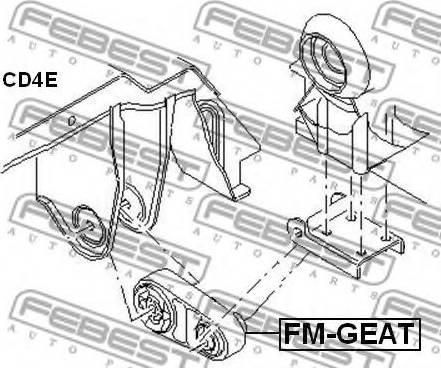 Febest FM-GEAT - Подвеска, автоматическая коробка передач avtodrive.by