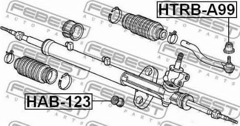 Febest HAB-123 - Подвеска, рулевое управление avtodrive.by