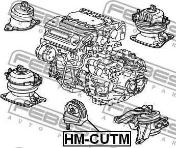 Febest HM-CUTM - Подвеска, автоматическая коробка передач avtodrive.by
